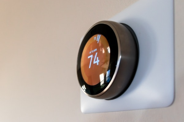 A smart thermostat can learn a family's living patterns