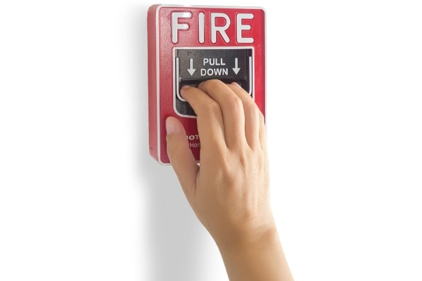 Manual fire alarms are a way for people to alert occupants of a building and the local authorities to a fire emergency